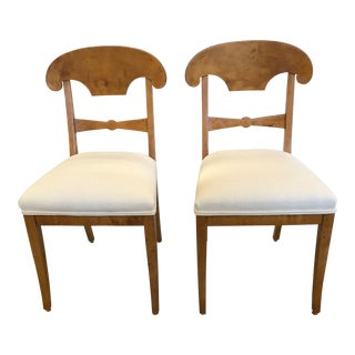 Mid 19th Century Vintage Biedermeier Side Chairs- A Pair For Sale