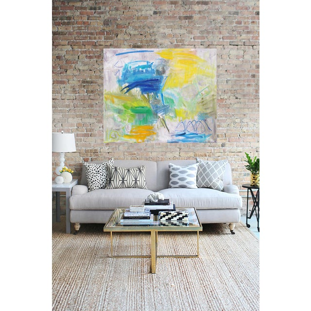 """High Seas"" Large Abstract Oil Painting by Trixie Pitts - Image 5 of 6"