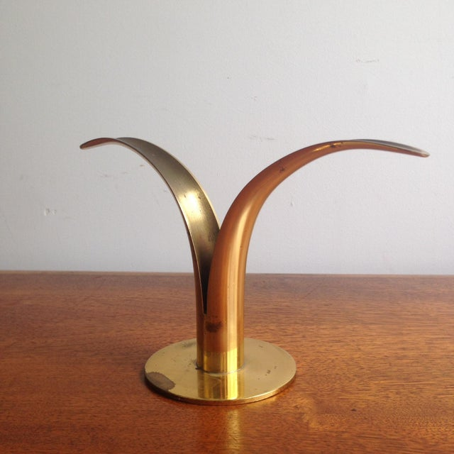 Mid-Century Modern Single Ystad-Metall Candle Holder For Sale - Image 3 of 6
