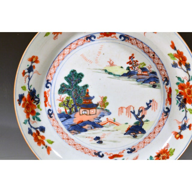 Ceramic Chinese Export Porcelain Imari and Verte Saucer Dish For Sale - Image 7 of 12