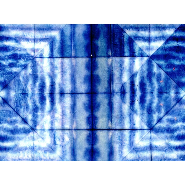 Bright Blue Abstract Artwork - Unframed Print For Sale