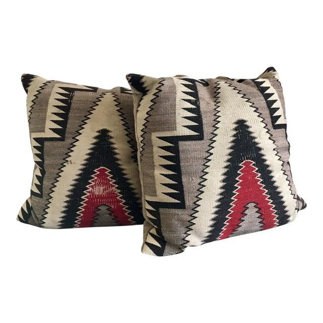 Geometric Navajo Weaving Pillows - Pair - Image 1 of 6