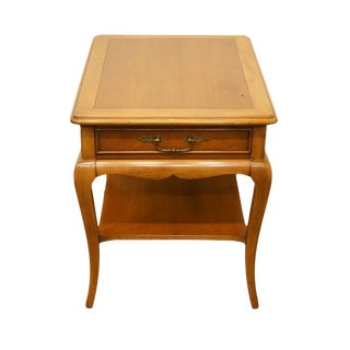 Hekman Furniture French Country Banded End / Side Table For Sale