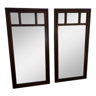 Drexel Vintage Wood Mirrors - A Pair For Sale