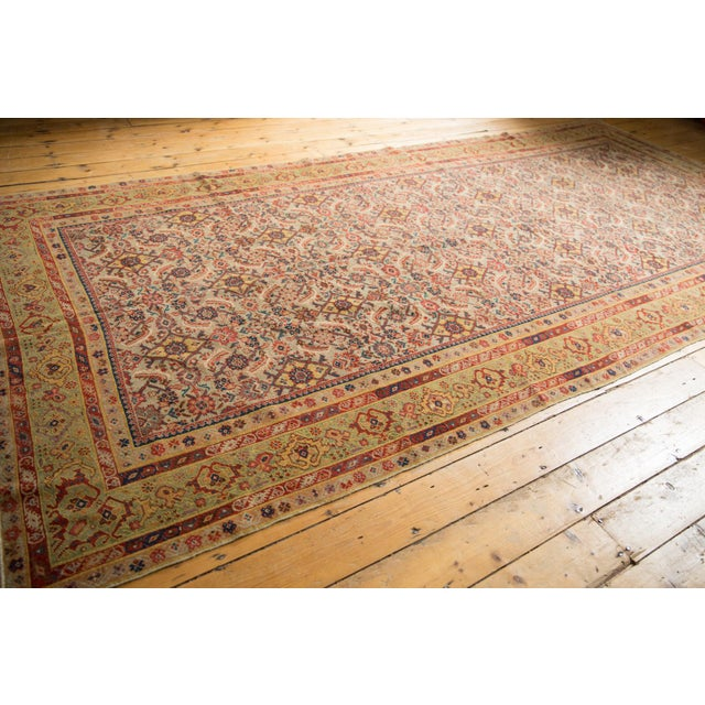"Antique Distressed Malayer Rug Runner - 6'5"" X 12'8"" For Sale - Image 9 of 13"