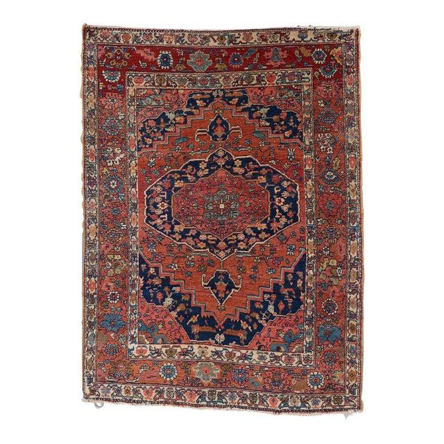 Heriz Wool Rug - 4′5″ × 6′ For Sale