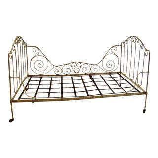 French Folding Iron Bed For Sale