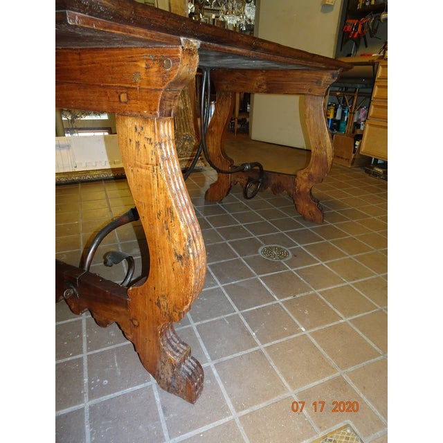 Spanish 19th Century Spanish Walnut Dining Table For Sale - Image 3 of 13