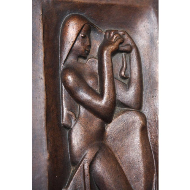"""French """"Femme se peignant"""" Bronze-Relief by Joseph Csaky For Sale - Image 3 of 6"""