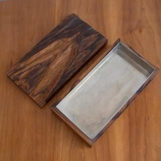Robert Trout Wood Jewelry Box With Liner, 1965 Preview