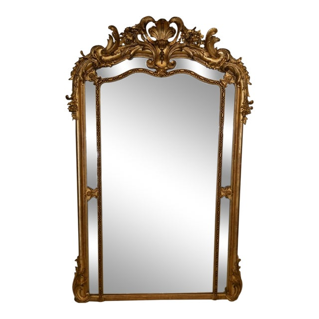 Napolean III Paraclose Gilt Mirror For Sale