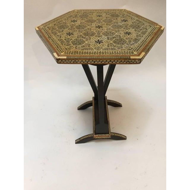 Early 20th Century Egyptian Octagonal Side Table For Sale - Image 5 of 9