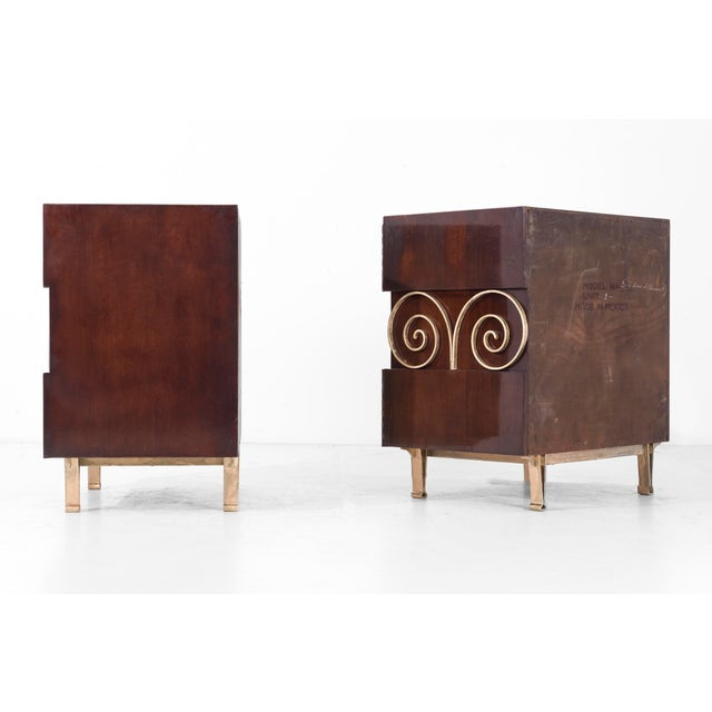 Edmund Spence Pair of End Tables or Nightstands For Sale In New York - Image 6 of 11