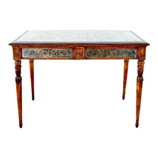 Shabby Chic Mirror Painted Top 2 Drawer Hall Table For Sale