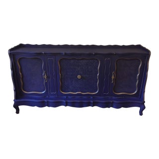 1960s French Royal Blue Buffet