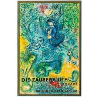 1967 Vintage Chagall Metropolitan Original Poster by Charles Sorlier For Sale