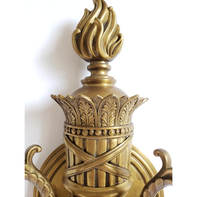 Decorative Crafts Inc. Antique Brass Wall Sconces- a Pair For Sale In New York - Image 6 of 13