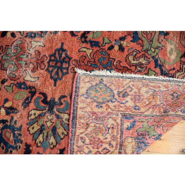 "Vintage Fine Malayer Square Rug - 3'5"" X 4'6"" For Sale - Image 9 of 10"