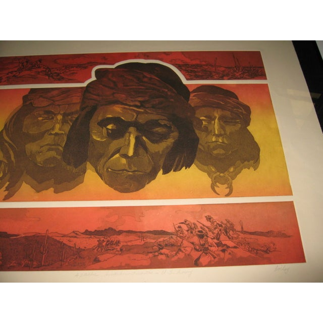 Apache Scout Lithograph by Criley - Image 2 of 3
