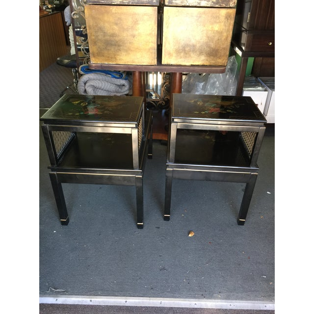 Black Chinoiserie Signed Katherine Henick Side Table - A Pair For Sale - Image 8 of 9