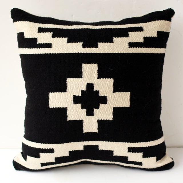 Reversible Peruvian Black & White Wool Pillow Case - Image 2 of 5