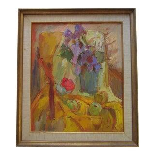 Loli Lilian Vann Painting Wife of Oscar Expressionism Vintage California Modern For Sale