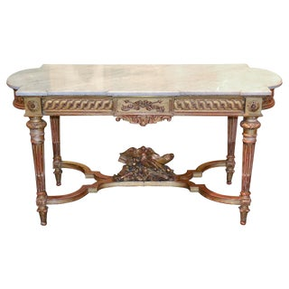 French Louis XVI Giltwood Center Table
