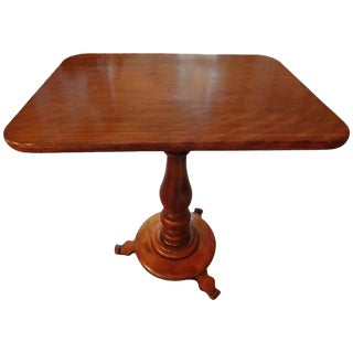 19th Century French Louis Philippe Cherrywood Pedestal Table For Sale