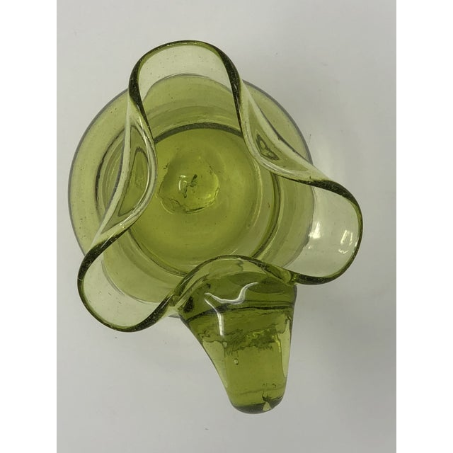 Mid-Century Modern Blenko Hand Blown Glass Small Pitcher For Sale - Image 3 of 5