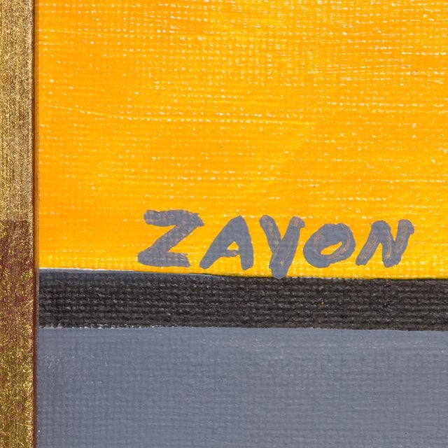 Abstract Geometric Abstract Oil on Board by Seymour Zayon For Sale - Image 3 of 6