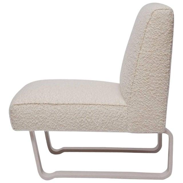 "Edward Wormley ""Modern Morris"" Bleached Mahogany Slipper Chair For Sale"