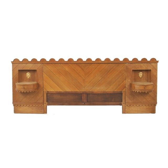 Mid 20th Century French Midcentury '1940s' Oak Headboard For Sale - Image 5 of 5