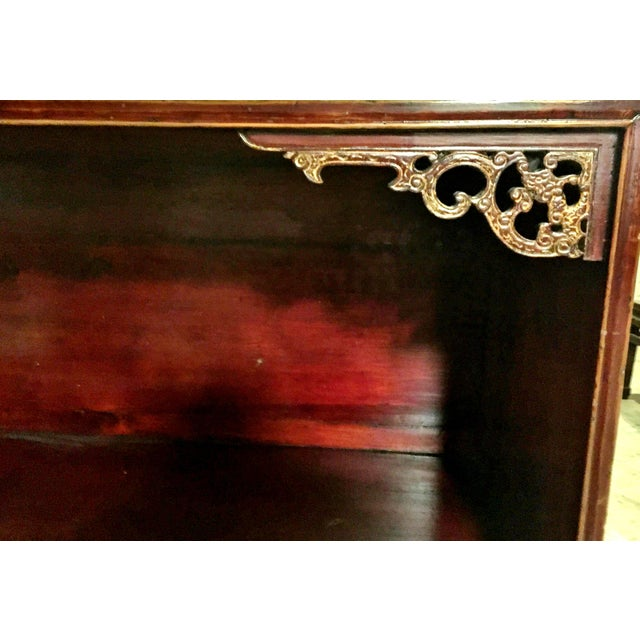 Brown Antique Chinese Bookcase Display Chest For Sale - Image 8 of 13