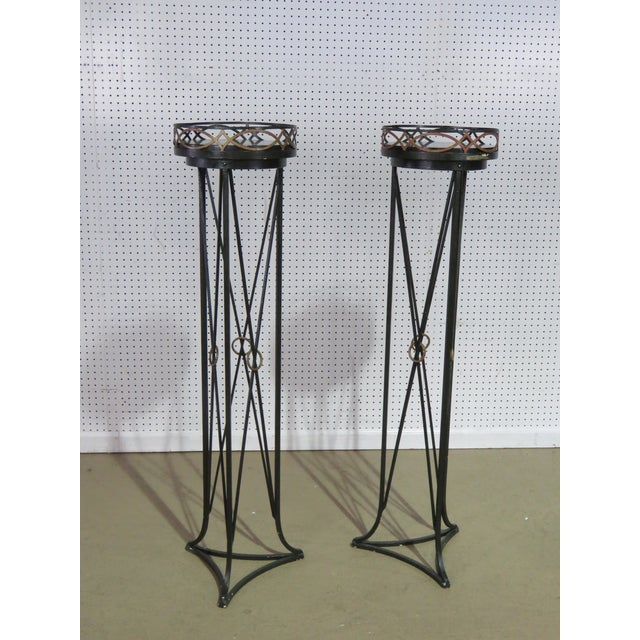Marble Pair of Hollywood Regency Style Plant Stands For Sale - Image 7 of 7
