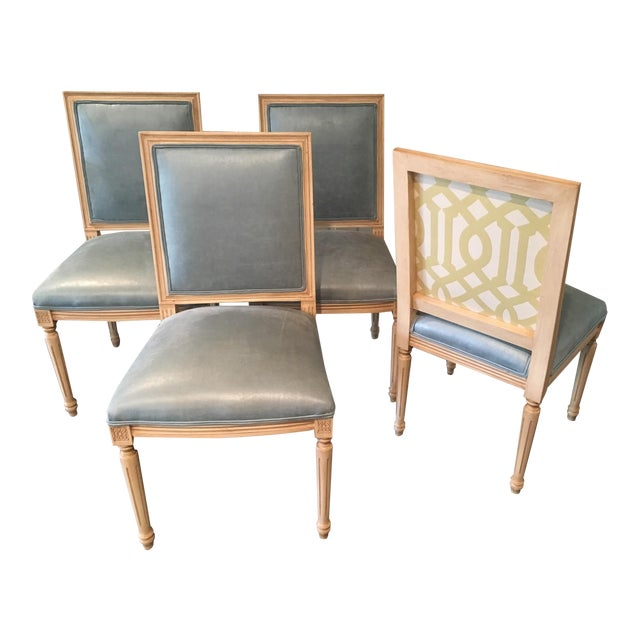 Louis Style Square Back Dining Chairs - Set of 4 - Image 1 of 7