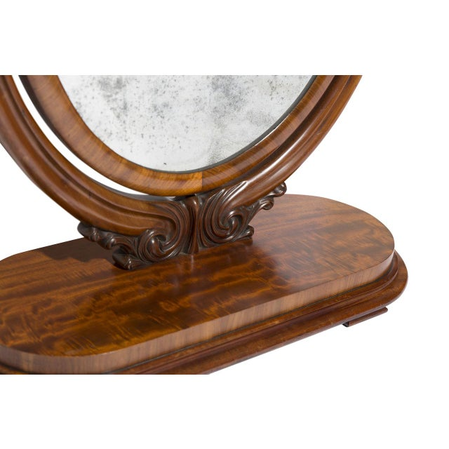 Antique Oval Table Mirror For Sale - Image 4 of 5