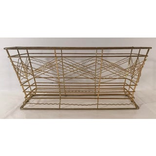 Mid Century Expanded Gold Metal Basket Preview