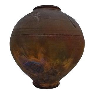 1970's Raku Studio Pottery Vase