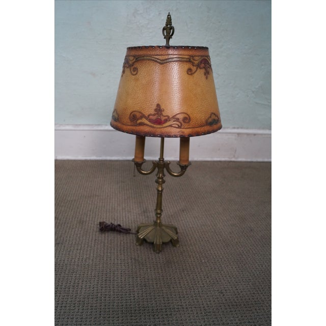 Remington Antique Brass Table Lamp For Sale - Image 7 of 10