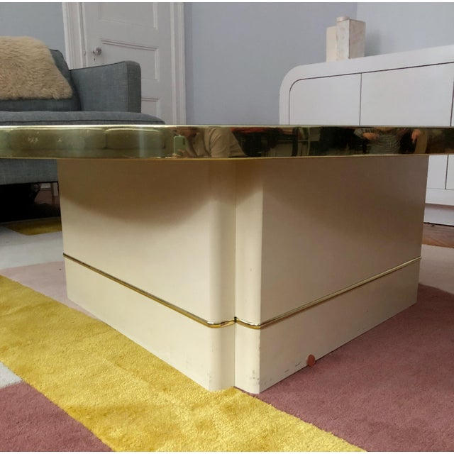 Mid-Century Modern Mirrored Kidney Coffee Table For Sale - Image 9 of 12