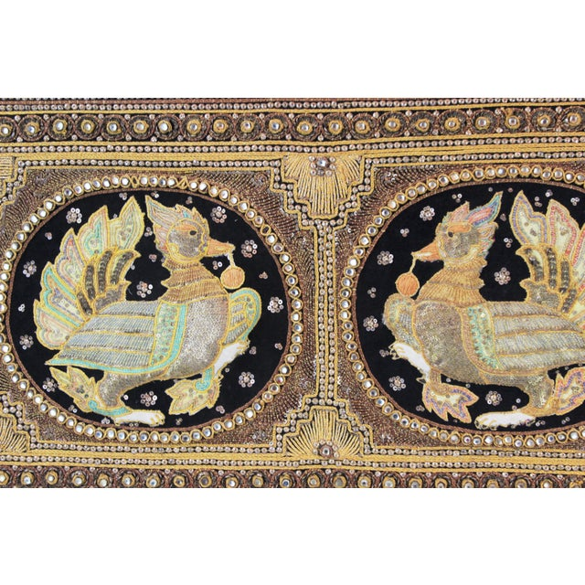 Glass Pasargad DC Hand Made India Beaded Turkey Raised Wall Art For Sale - Image 7 of 10