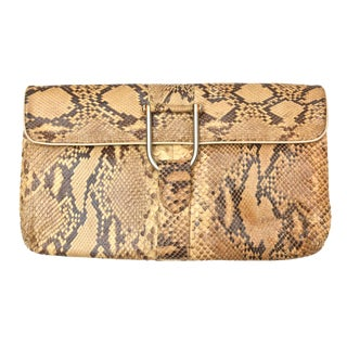 Vintage Snakeskin Clutch For Sale