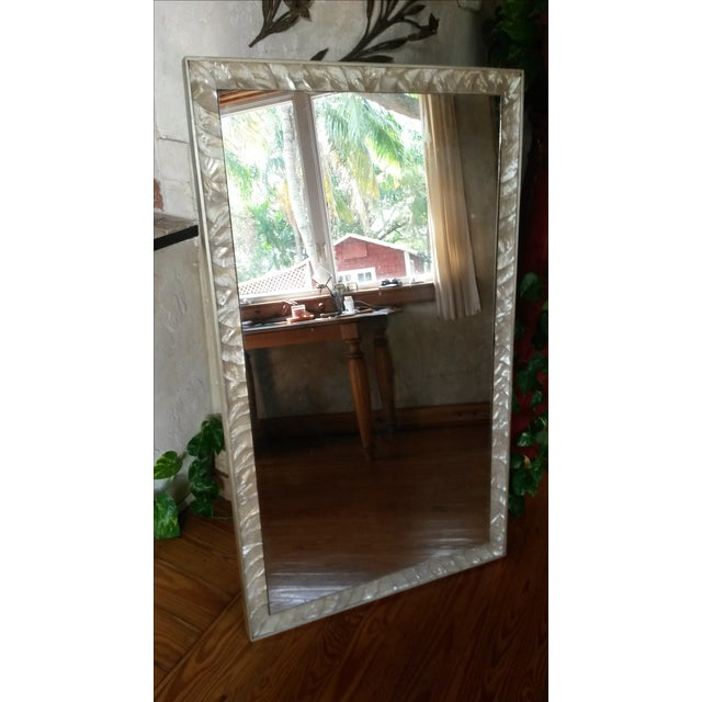 Antique Mother of Pearl Framed Mirror For Sale - Image 5 of 6