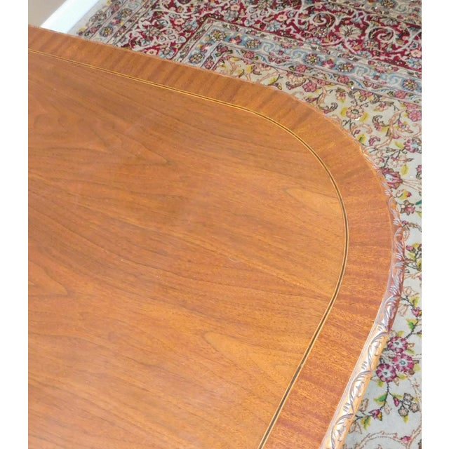 Chippendale Mahogany Banded Dining Room Table - Image 8 of 9