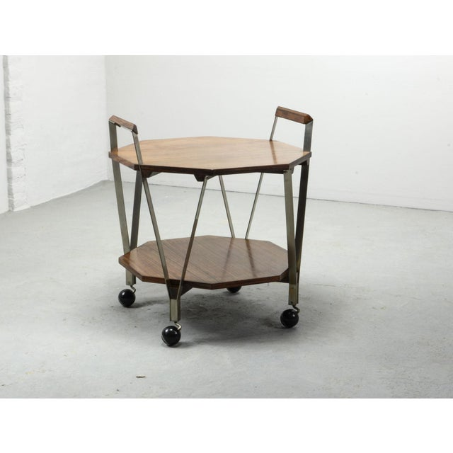 Mid-Century Octagonal Serving Trolley Designed by Ico Parisi for Stildomus Milan, Italy, 1959 For Sale - Image 13 of 13