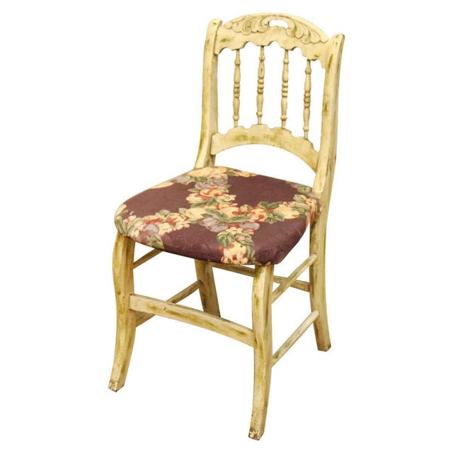 Pair of Wooden Chairs With Floral Seat - Image 3 of 10