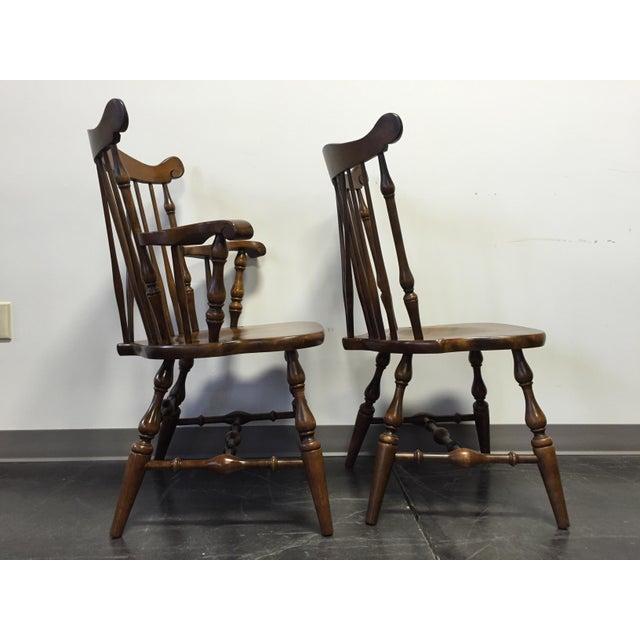Temple Stuart Rockingham Windsor Dining Chairs -Set of 6 For Sale - Image 5 of 11