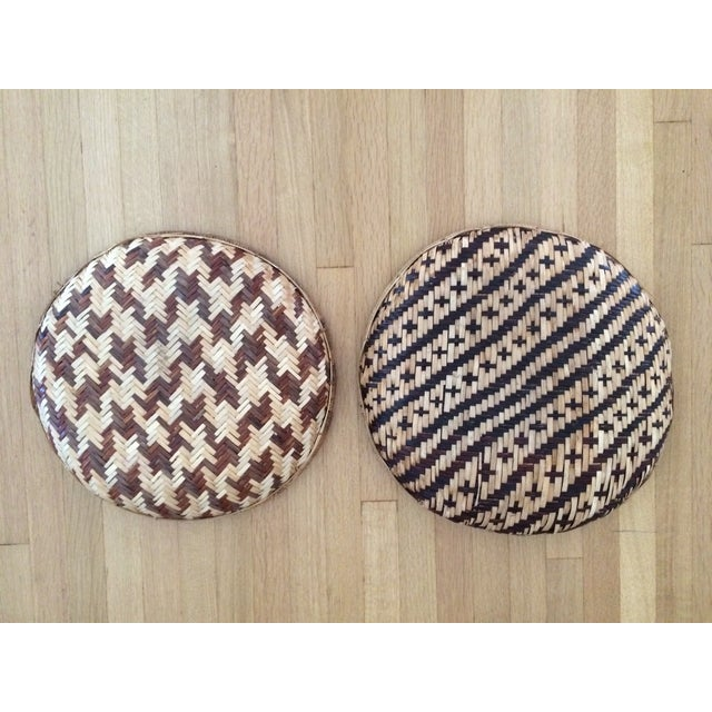 Woven Ethnic Baskets - A Pair - Image 5 of 5