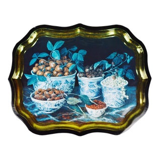 Vintage Toleware Style Tray Made in England - Painting by Galley - Stephanie Hoppen Picture Archive