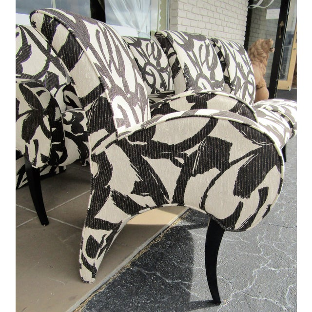 1990s Vintage Thayer Coggin Upholstered Modern Dining Chairs- Set of 6 For Sale In West Palm - Image 6 of 10